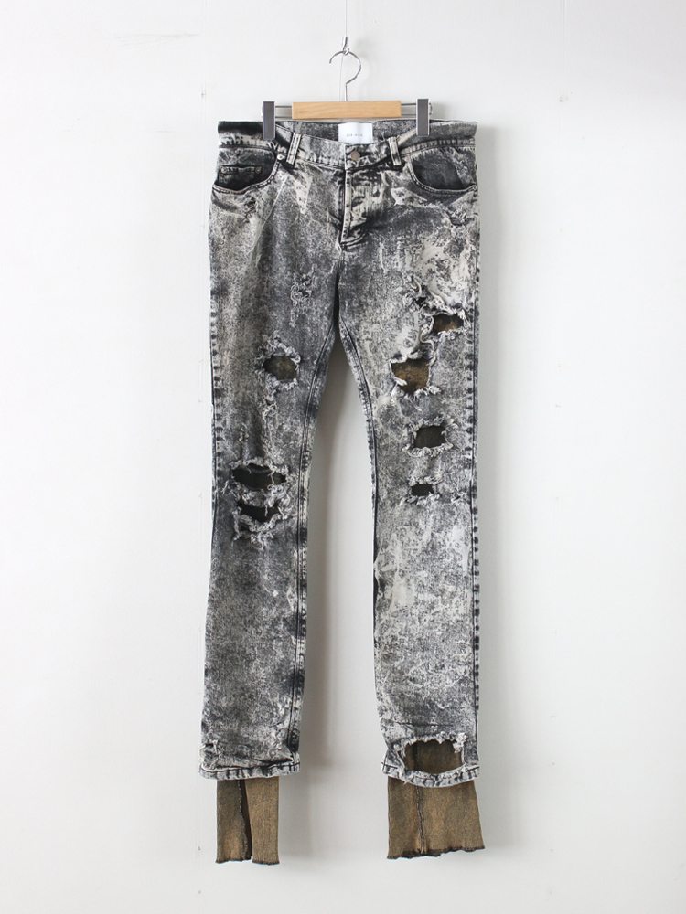 CRASH DENIM LEGGINGS #BLEACH